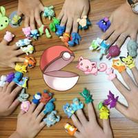 bonecos de criança venda por atacado-Engraçado 40 pçs / set Crianças Favorito Pikachu Mewtwo Snorlax Pokeball Dedo Fantoche Brinquedos