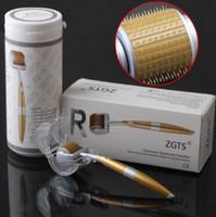 ingrosso zucchero titanio-New 192 Pin ZGTS Derma Titanium Micro Ago Roller Anti-Aging Acne Rughe Strumenti per la cura della pelle Microneedle Roller CCA8466 50 pz
