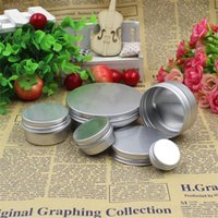 Wholesale metal fan feng shui for sale - Group buy New Creative Metal Crafts Pot Bottle Balm Containers Senior Plaster Packing Boxes g To g Thread Aluminum Box Hot Sale yx6 aa