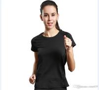 schnelle, trockene, atmungsaktive hemden großhandel-Sport Running T-Shirt Damen Rundhals Kurzarm Yoga Service Fitness Service schnell trocknend atmungsaktiv 2017 neu