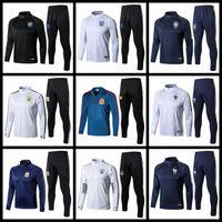 Wholesale Grey Man Jacket - 2018 World Cup Training Suit 2019 France Football jacket Portugal Brazil England Spain Germany Argentina Training Suit