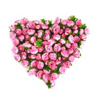 jeu de tête pour mariage achat en gros de-100pcs / ensemble Rose Artificielle Têtes De Fleurs De Soie BRICOLAGE Maison Décoration De Noce Décor Artisanat Fleurs Artificielles Fleurs À La Main