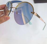 очки с синей линзой оптовых-SPR 65T солнцезащитные очки розовое золото синий зеркальные линзы gafa де соль Sonnenbrille Леди Роскошные дизайнерские очки Очки новый с коробкой