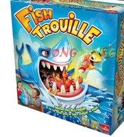 lustige streichspiele großhandel-Fisch Trouille großer Hai Mund Biss Finger Spiel Streich lustige Neuheit Gag Angeln Spielzeug