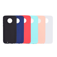 Wholesale g6 light - Case For Motorola Moto G5 G5 Plus G6 G6 Plus Frosted Back Cover Solid Color Simple Soft TPU