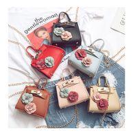 Wholesale Handbags Purses Accessories - New fashion girl Stereo Flower Chain Girl Handbag Cute Mini Purse Bag 2018 Girl Accessories Handbag