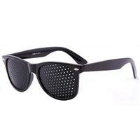 ingrosso occhio nero perno-Uomini Donne Vision Care Black Pinhole Occhiali da sole Vista Migliora l'affaticamento degli occhiali Microporosi Occhi Esercizio Anti-miopia