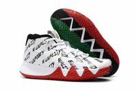 Wholesale Clear Plastic Men Shoe Box - (With Box)Free Shipping Kyrie 4 BHM Shoes High Quality Black History Month Mans Multi-Color Chinese New Year Black Red Green Shoes