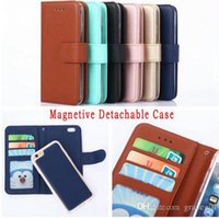 Discount purse cases for iphone 5s - Hybrid Wallet Leather Case Pouch Magnetic Detachable Purse For Iphone X 7 8 6 6S SE 5 5S Samsung Galaxy S9 S8 Plus S5 S7 S6 EDGE Skin Cover
