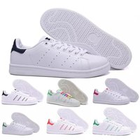 Wholesale new brand high quality cotton woman online - High quality new stan shoes fashion brand smith leather men women sport sneakers classic flats Casual shoes