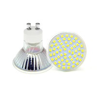 bombilla led e14 cree 5w al por mayor-Alta calidad LED lamparas GU10 3528 SMD 60leds Pure White / Warm White llevó el proyector 6W 220V luces Bombilla lámparas 1pcs