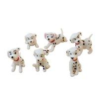 ingrosso ornamenti in miniatura-1/12 Dollhouse Miniature potty dogs Dalmatians 6pcs ornament