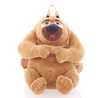 bolsa mini osos de peluche al por mayor-Brown Mini Plush Bear Bag Kids Kindergarten Mochila de dibujos animados Mochilas Boy Girl Baby Student Bags Lovely Animal 40B0012