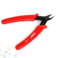 Wholesale snip tools for sale - 125mm YTH Crimping Plier Snip Mini Electronic Cutter Hand Tool Red Handle YTH109 Cutter Light weight thin profile DHL Free