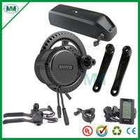 EU US No tax BBS02 48V 750W Bafang mid drive electric motor kit with 48V 14.5Ah Li-ion down tube ebike battery with charger