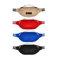 moda bel çantaları toptan satış-Sup 18SS Bel Çantası 44th Unisex Fanny Paketi Moda Erkekler Tuval Erkek Haberci Çanta 17AW Omuz Çantası
