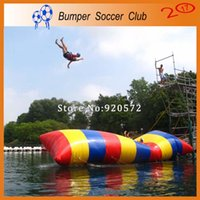 Wholesale trampoline jumping - Free Shipping 5x2m Inflatable Water Blob Jump Pillow Water Blob Jumping Bag Inflatable Water Trampoline For Sale