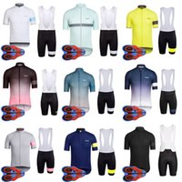 Wholesale 5xl bicycle jersey - Hot selling Rapha cycling jersey summer men short sleeve bib shorts bicycle clothing MTB bike outdoor sport ropa ciclismo size XXS-5XL E2001