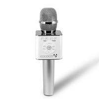 bluetooth kaydı toptan satış-SOVO Kablosuz Karaoke Mikrofon Bluetooth Hoparlör 2-in-1 iOS / Android için El Sing Kayıt Taşınabilir KTV Çalar