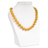 gelbe jaspis halskette großhandel-Das schillernde Gelb Mit einem glänzenden Topaz-Jaspis-Collier People edel für die Topaz-Jaspis-Halslage.