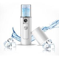 vapor de niebla de la cara al por mayor-Mini USB Recargable Facial Steamer Nano Facial Mist Sprayer Cool Face Spray Steamer Viajes Humectante Face Sprayer