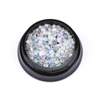 Wholesale nails gemstones for sale - Group buy Colored d nail stones shell pieces gold gemstone nail art studs manicure decorations accessories for nails YST23
