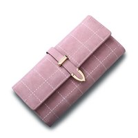 Wholesale womens long leather wallets for sale - Group buy Fashion Women Wallet Long Hand Clutch Bags Purse Wallet for Womens Abrazine Leather Handbags Retro Card Holder Bags Ladies Coin Purse