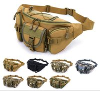 Wholesale Men s sports outdoor large capacity waterproof tactical pockets Cycling travel running multi function chest bag multi colors