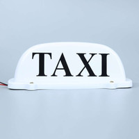 Wholesale Taxi Roof Signs - China light car roof Suppliers DC 12V Cab Sign Topper Roof Car White Taxi Top Lamp Light with Magnetic