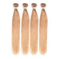 Wholesale 6a straight virgin human hair for sale - Group buy The high quality Strawberry Blonde Color Brazilian Virgin Straight Hair Weave a Human Hair Extension Inchs Remy Hair Weaving