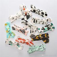 fuchs 25 großhandel-Neue INS Fuchs Panda Tierfrucht Druck Stirnbänder Baby Hasenohren Haarband Baumwolle Kinder Stirnbänder Baby Zubehör 25 Farben C1615
