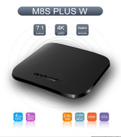 Wholesale m8s plus tv box for sale - Group buy 2018 M8S PLUS W TV BOX support WiFi Stalker MAG25x K UHD Android TV Boxes Quad Core GB GB OTA update S905W TV Box Media Player