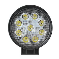 Wholesale Yellow Offroad Lights - Car s Light Bar Work Light 4 Inch 27W High Power 12V 24V Car LED Work Light Round Offroad Driving Lamp for Auto