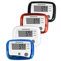 мини цифровой счетчик шагов оптовых-Distance Step Counter Mini Run Design Digital New Walking LCD Pedometer