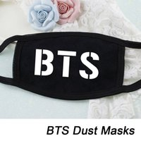 Wholesale boys black face mask for sale - Group buy k pop KPOP Fan BTS Bangtan Boys Letter New K POP Dust Cotton Mouth muffle Face Mask Dammskydd Maschere Antipolvere Masques