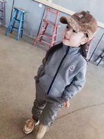 Wholesale kids boy girl style clothing for sale - New Style Children s clothing casual sports set baby girls boys Tracksuit Spring autumn Kids Set long sleeve Cotton zipper Jacket Pants