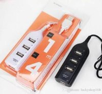 Wholesale computer chargers - High Speed Mini 4 Port USB 2.0 HUB With Charger Cable 4 USB Port Charging Adapter For Laptop PC Computer Iphone 6 7 8 plus samsung s7 s8