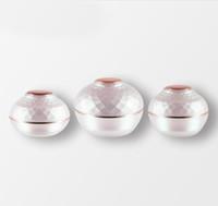 acryl-kosmetik-gläser für cremes großhandel-50g Acryl leere Make-up nachfüllbar probe flaschen High-grade Reise Gesichtscreme Kosmetik Container zwiebel form jars