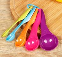 Wholesale Colorful Utensils - 5PCS Kitchen Measuring Spoons Measuring Cups Colorful Spoon Cup Baking Utensil Set Kit Creative Measure Tools
