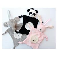 poupées de bébé achat en gros de-Nouveau-né Blankie apaisant serviette de bébé jouets forme animale bébé cadeau de bébé doux enfant en bas âge enfants jouets éducatifs en peluche jouets en peluche poupées