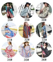 Wholesale hair styles fringes - 36 color 2018 Bohemian style beach towel,Prevent bask in cape,Women's Girls Ladies Scarf Soft Fringes Solid Scarf