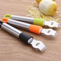 descascar laranjas venda por atacado-Aço inoxidável orange ralador de casca de limão aplainamento facas cortador de fio fruta melão plaina ralador gadgets para acessórios de cozinha lz1552