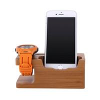 iwatch ladegerät großhandel-Neue 2in1 Ladestation Ladegerät Halter stehen für Apple Watch für iWatch iPhone Universal