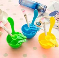 Wholesale diy facial mask set for sale - Group buy 4 in DIY Facial Mask Mixing Bowl Brush Spoon Stick Tool Face Care Set LJJN58