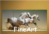 cuadros abstractos caballos corriendo al por mayor-Pintado a mano 3 paneles arte de la pared caballos corrientes pinturas al óleo pinturas abstractas de lienzo artículos para el hogar pintura al óleo decoración del hogar