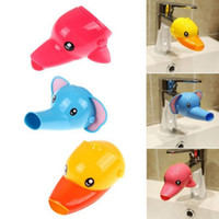 Wholesale tub baby online - Happy Fun Animals Faucet Extender Baby Tubs Kids Hand Washing Bathroom Sink Gift Fashion and Convenient