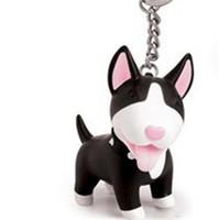 mini-spielzeugauto keychain großhandel-Niedlichen Hund Keychain PVC Mini Terrier Schlüsselanhänger Mode Vinyl Bull Anime Ausgezeichnete Schlüssel Schnalle Schlüssel Ring Halter Auto Figur Spielzeug Geschenk 8bd hh