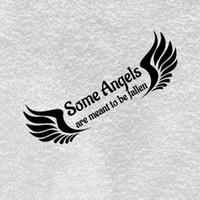 calcomanías de ángeles al por mayor-Algunos ángeles están destinados a ser una etiqueta engomada caída Vinilo del coche Etiquetas de regalo lindas Pegatinas de pared