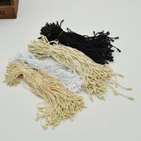 Wholesale tags tie string resale online - 980pcs Good quality Cotton clothes garment hang Tag String Snap Lock Pin Loop Fastener Ties For product tags