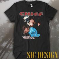 eski tişört hip hop toptan satış-Vintage Nadir Marino Morwood Şefi Keef Bana Diye Bana Seviyor T-Shirt özel baskılı tshirt hip hop komik tee erkek tişörtlerin